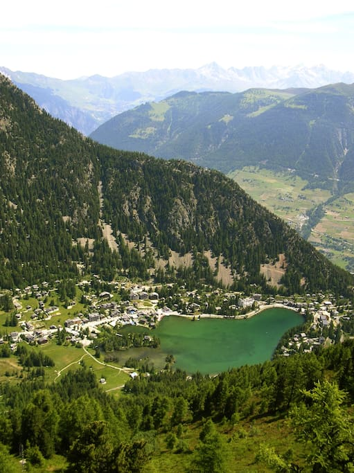 Champex is a picturesque village coiled around a deep, pristine alpine lake.