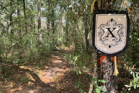 Primitive waterfront camping