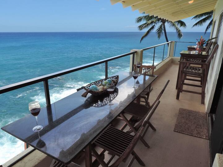 Poipu Shores 302B 3BR Oceanfront Heated pool with Air Conditioning