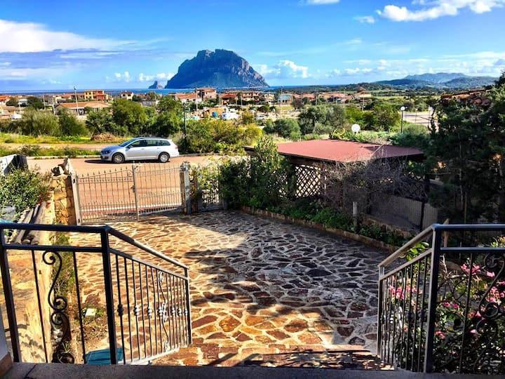 Villa with panoramic view on Tavolara Island