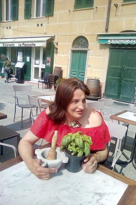 Me in the center of Camogli