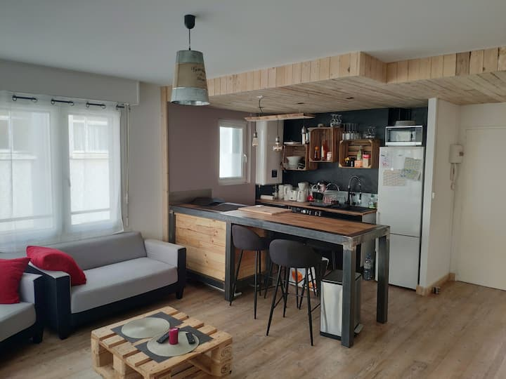 Charmant appartement style industriel
