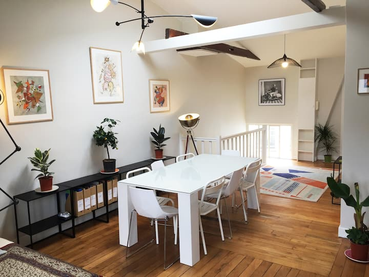 A spacious and cosy 65m2 loft near Invalides