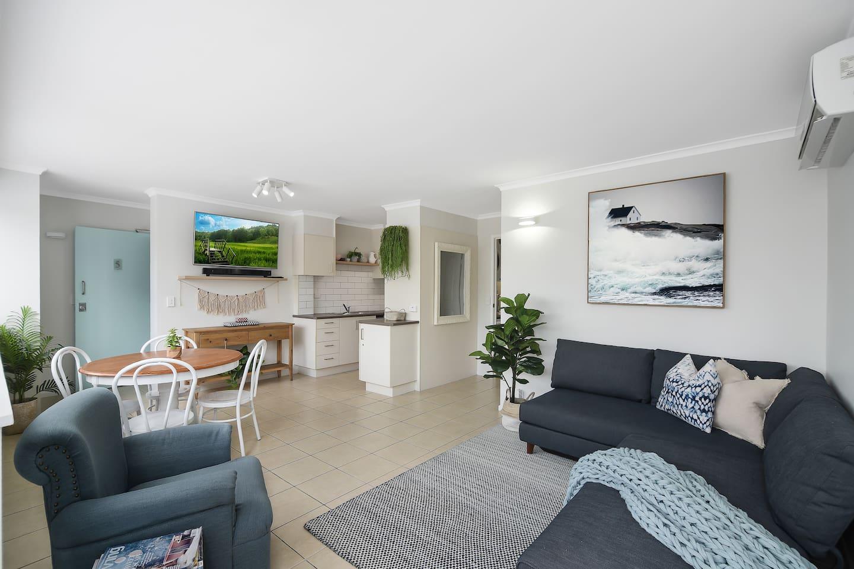 Spacious modern living area