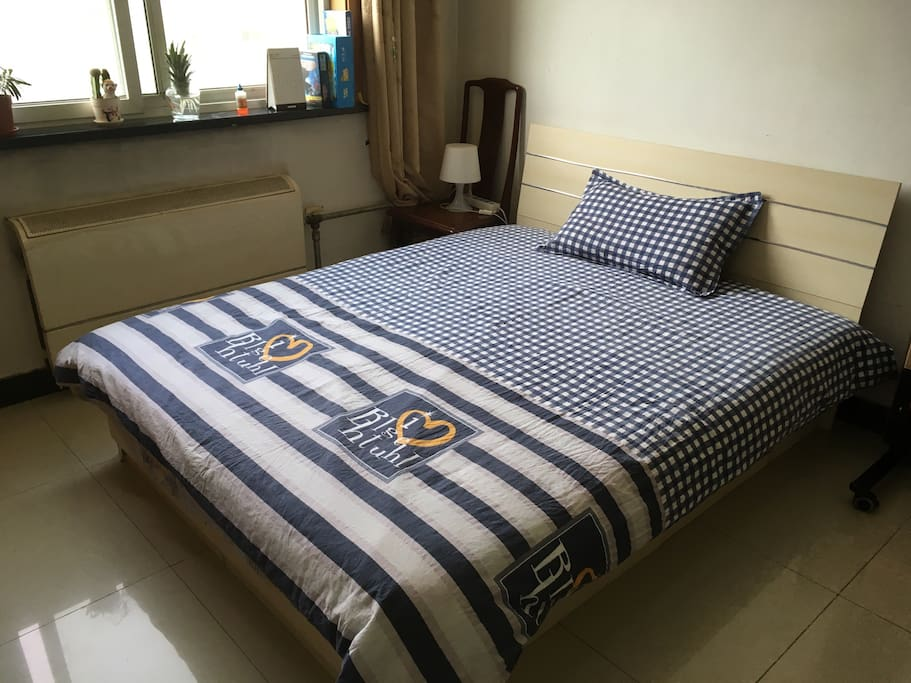 Nice and clean bedroom;All bedding is newly bought and will be washed with laundry disinfectant for clothes after every guest;