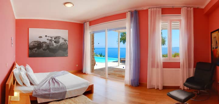CORFU LUXURY VILLAS FIVE BEDROOMS VILLA ROSSA