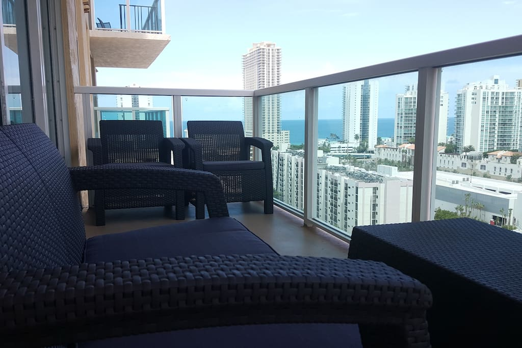 Balcony, Ocean View and Intracoastal views