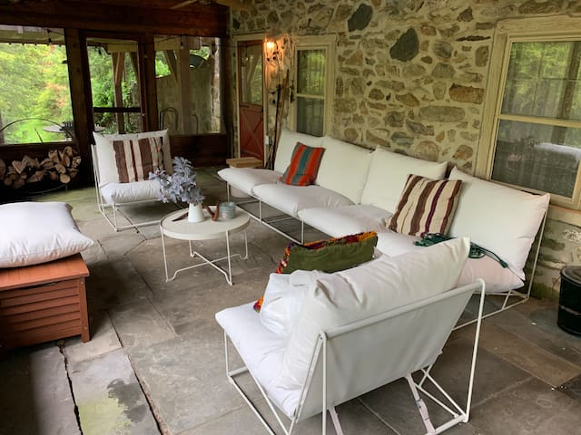 Back patio seating area