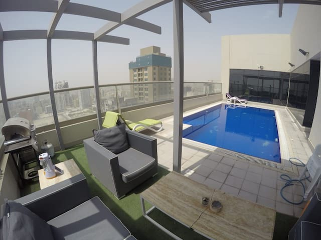 2 bedroom flat with balcony Juffair bd 490 month