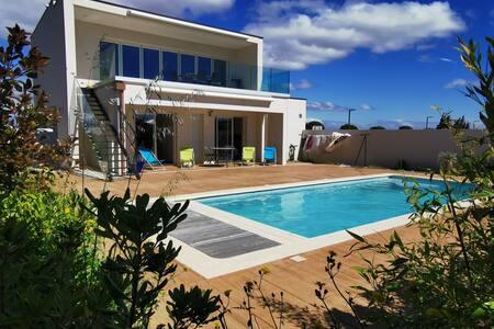luxury villa on mediterranean seaside