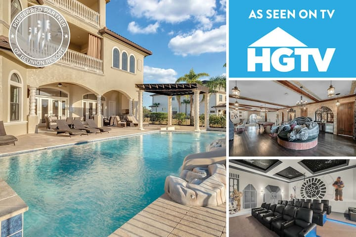 Be Our Guest Castle | As Seen On HGTV - Theme Queen, 10,500 Sq. Ft. 12 Bed Villa