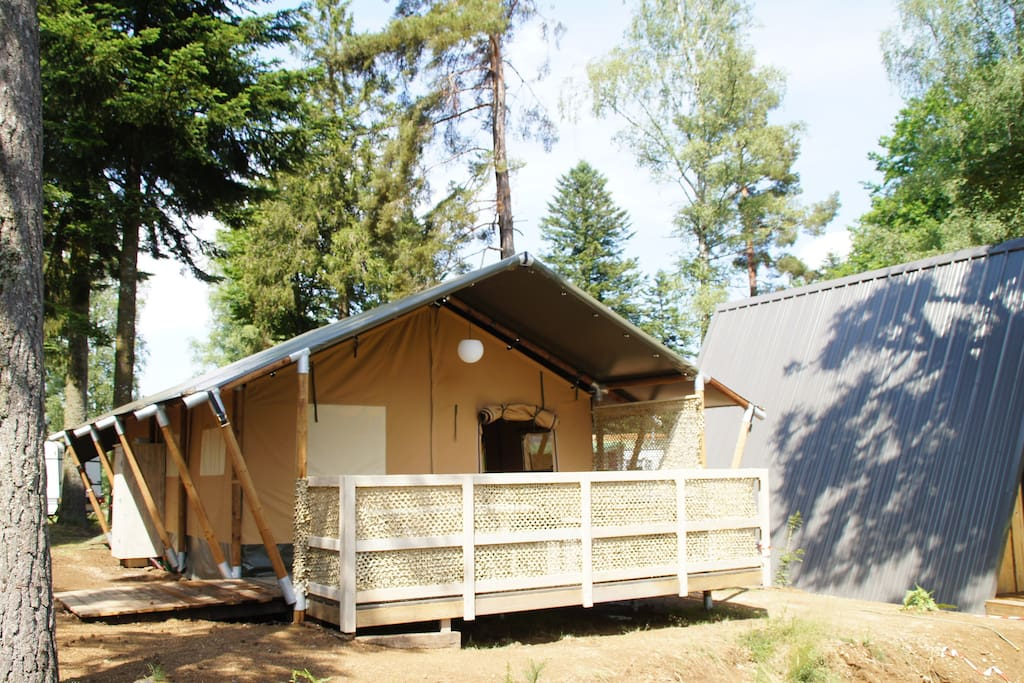 Tente Safari camping Les Murmures du Lignon