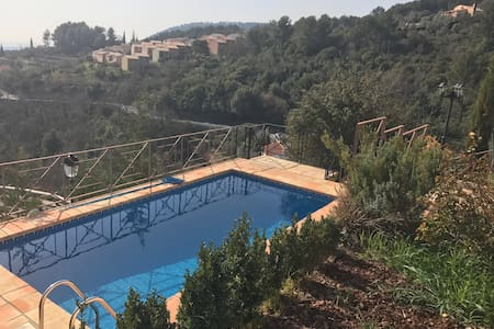 Provence house with modern interior, gorgeous view - Bargemon - Hus