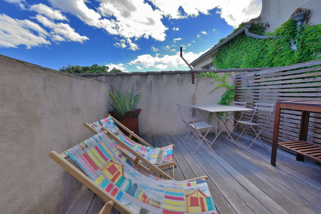 fred's loft - calvisson - terrasse