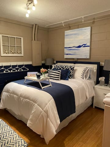 """Luxurious linens - guests always comment on how comfortable bed is! """"My Pillows and sheets"""" for amazing sleep!    Robes snd slippers!"""