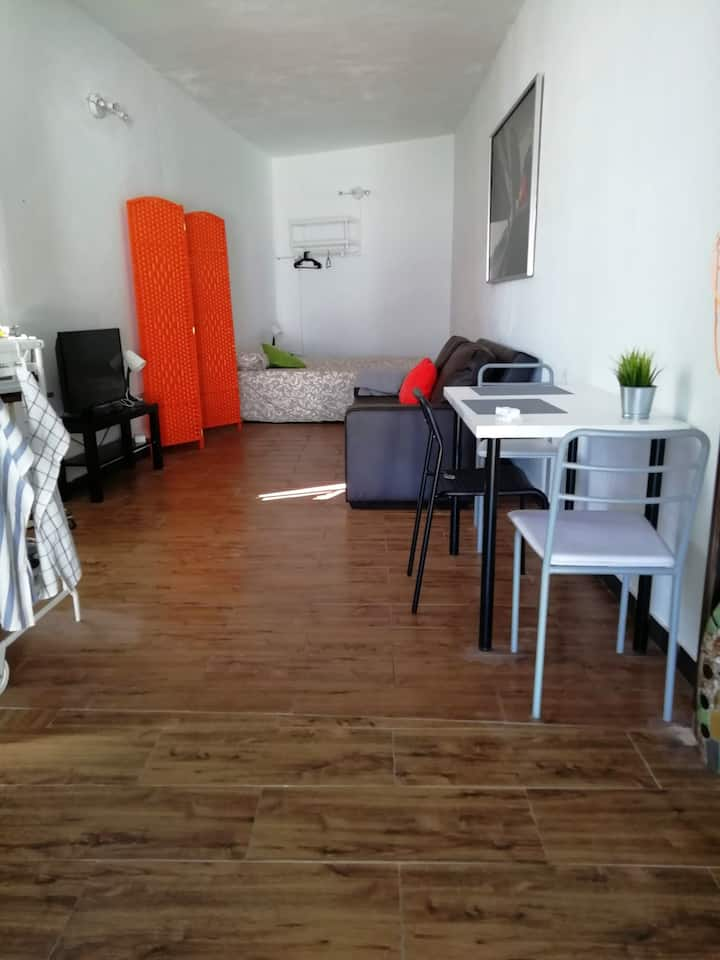 Studio in Tías, with wonderful city view and WiFi - 600 m from the beach