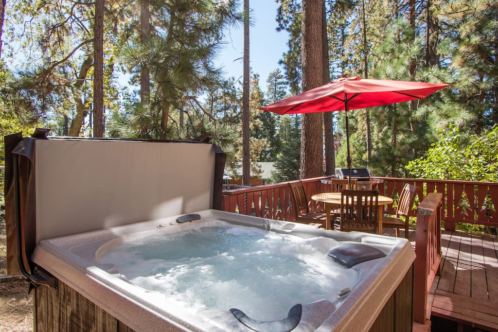 Bubbling Hot Spa on the Rear Deck