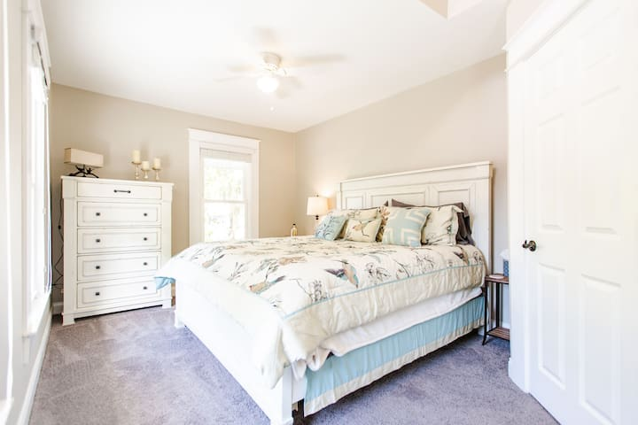 Upstairs Bedroom #1 with King size bed