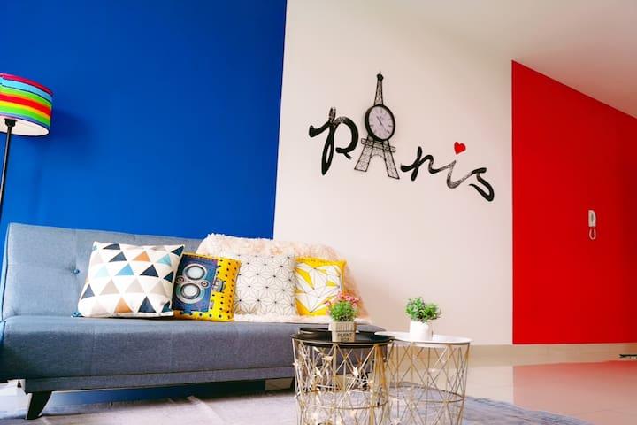 ParisHouse 8pax2Br Cosy Apt Near Sutera,BukitIndah
