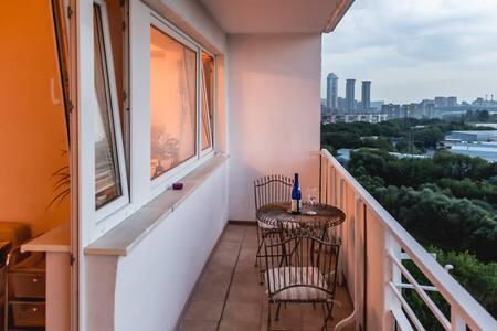 Уютная квартира с видом на парк Победы - Leilighet