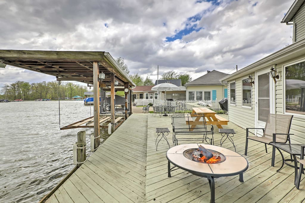 You'll have your own private on-property dock with boat lift!