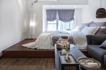 二楼1.5米床,慕斯床垫
