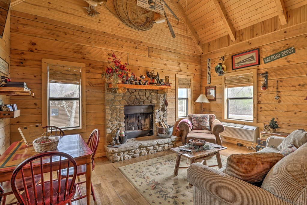 Cozy up inside after a busy day spent on White River!