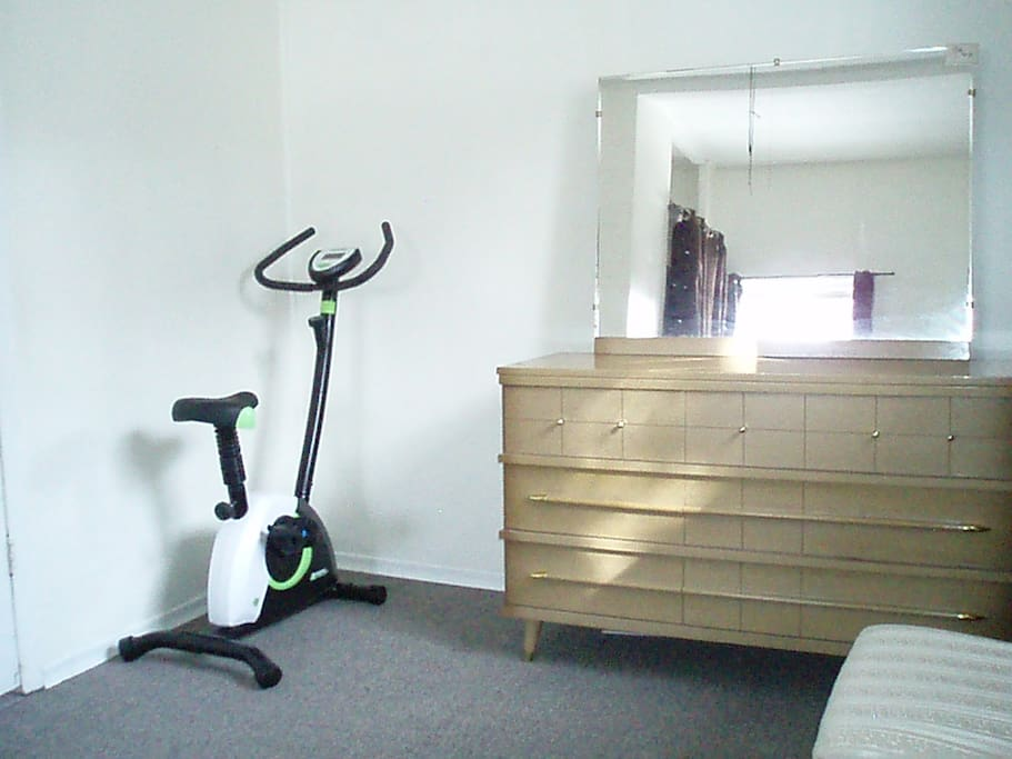 Drawers and Exercise Bike