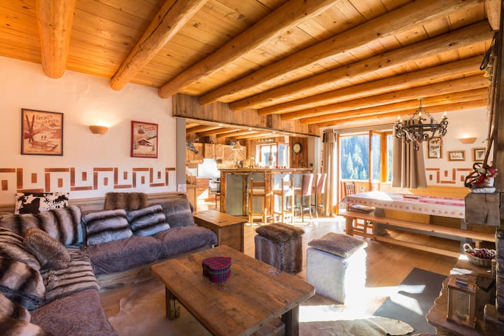 Luxurious ski chalet  sauna jacuzzi- La Plagne