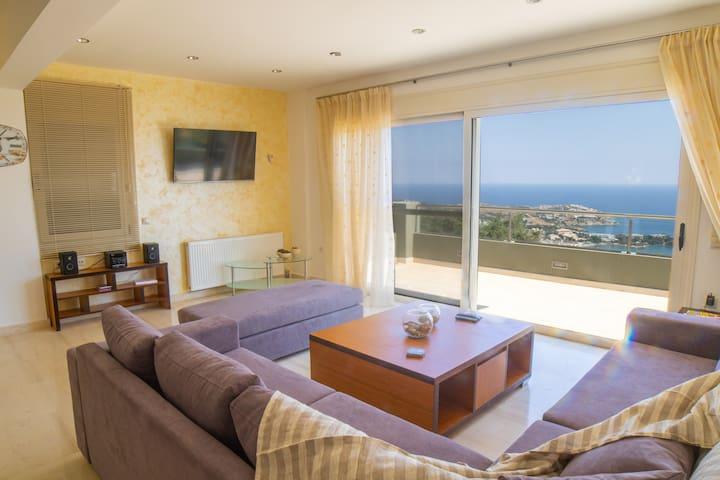 Luxury Villa Zeus private pool amazing sea view