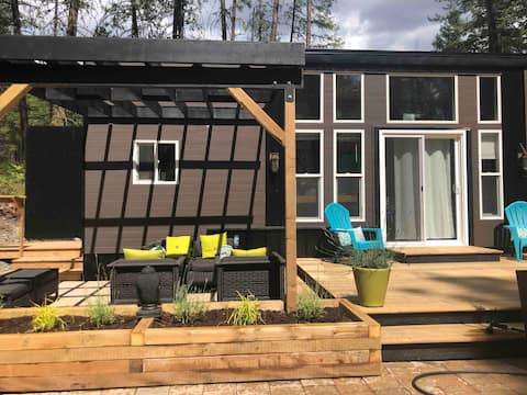 Modern rustic TINY HOUSE in the forest