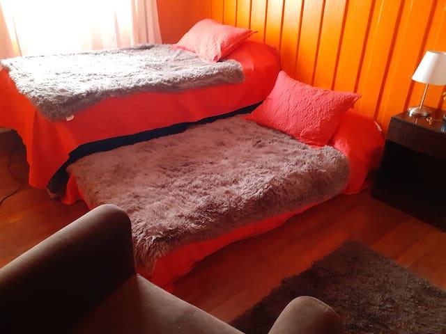 Habitación doble muy central en Temuco.