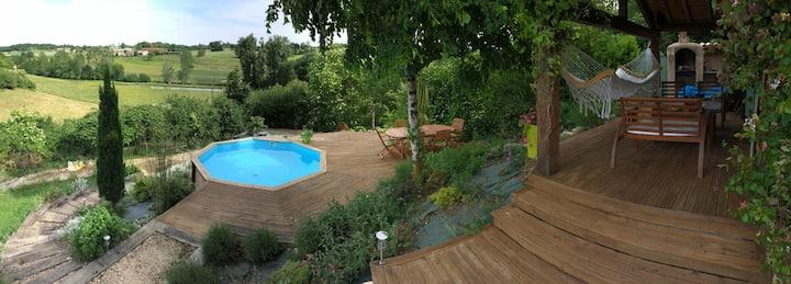 Barn conversion; pool & hot tub