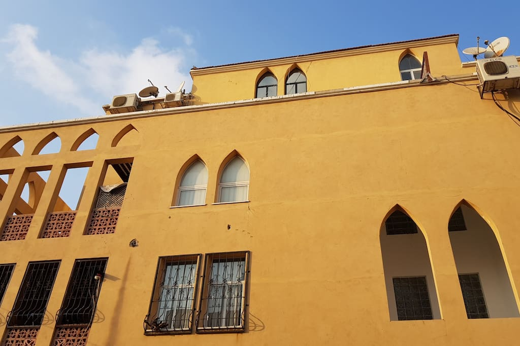 Our building in Jaffa, mixing smoothly with the eclectic architecture of Tel Aviv- Jaffa