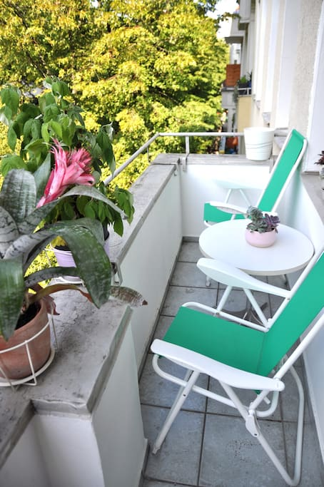 chill out spot on out cute balcony