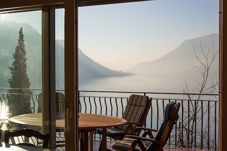 Apartment with terrace and beautiful lake view - Faggeto Lario - Leilighet