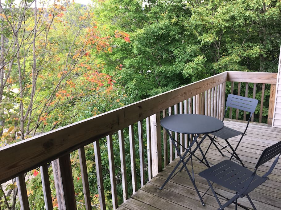 Every bedroom plus living room has a deck with views.