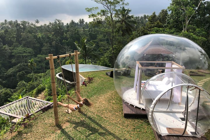 Bubble Hotel Ubud with private pool