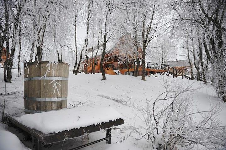 Банный дом на берегу Гнездило-ВО! 👍🏻🌿