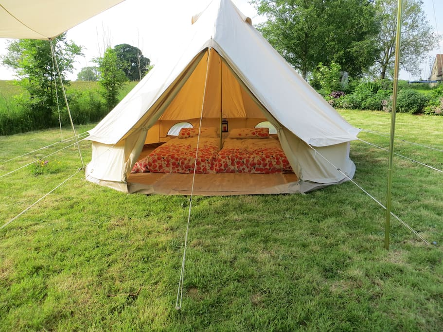 your tent sleeping area