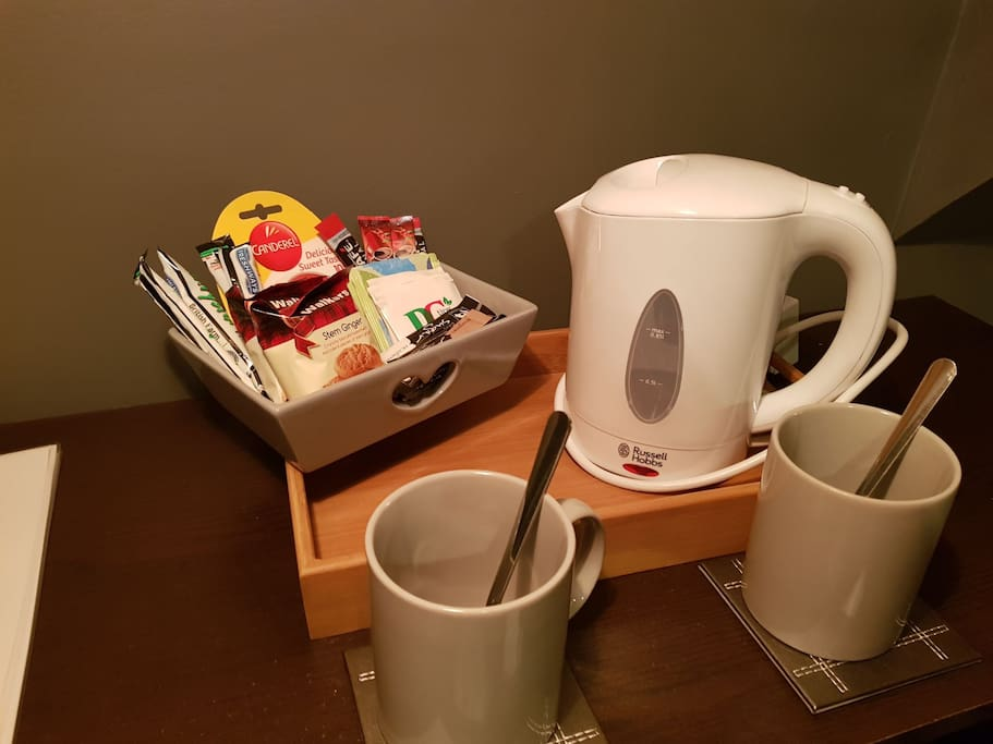 Complimentary tea, coffee & biscuits