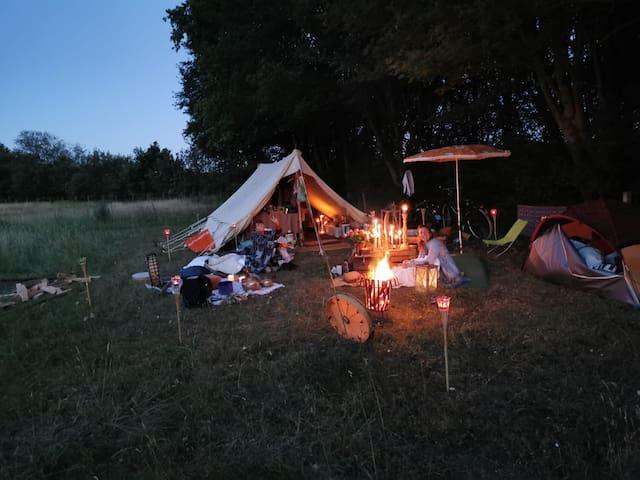 Samen kamperen in de natuur !