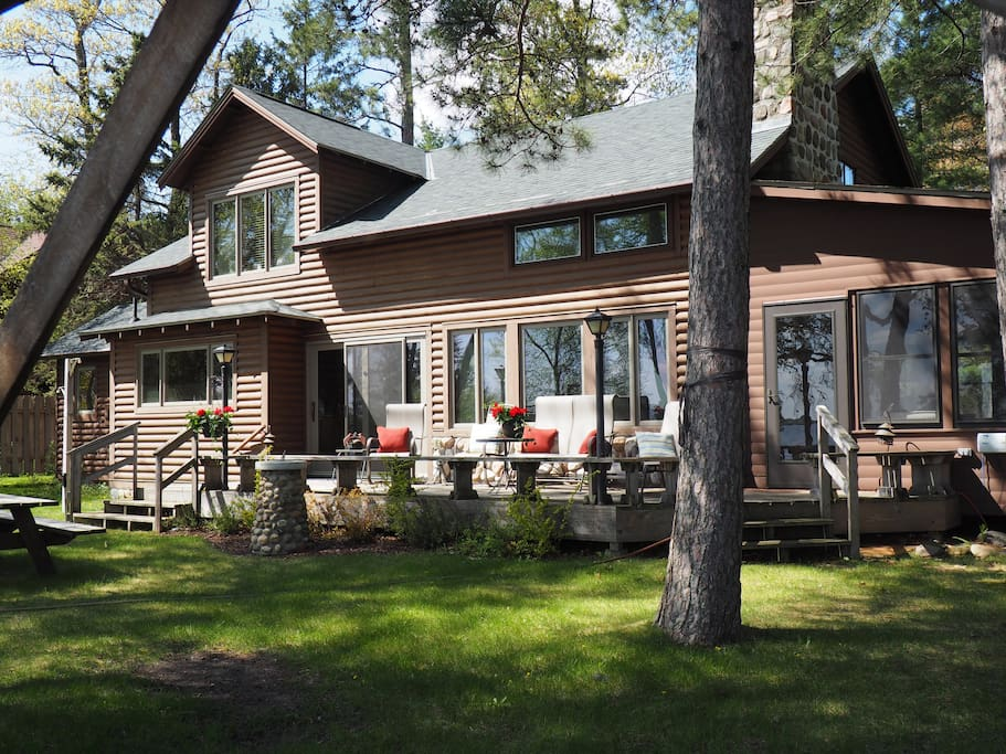 Our charming family cabin has wonderful views of the lake from the kitchen, living room and upstairs bedroom