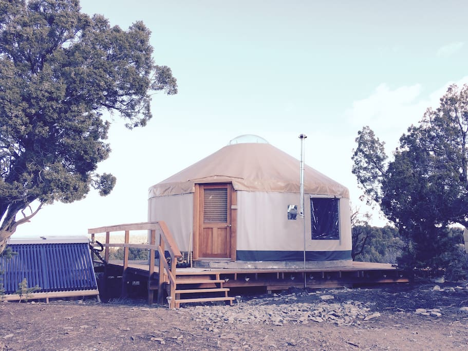 The solar-powered yurt on Coyote Ridge