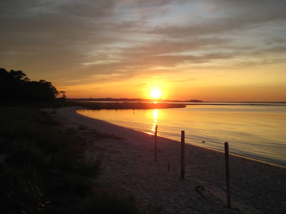 Sunset photo from Indian River Bay (walking distance)