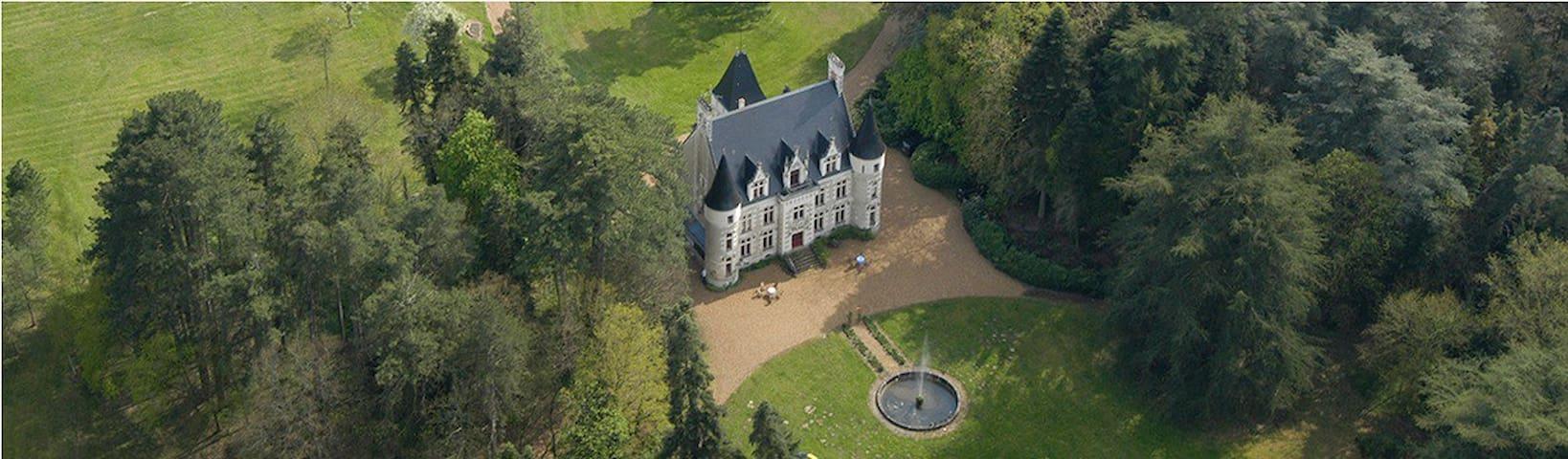 Overnachten in Frankrijk Château Le Grand Biard - Cère-la-Ronde - Bed & Breakfast