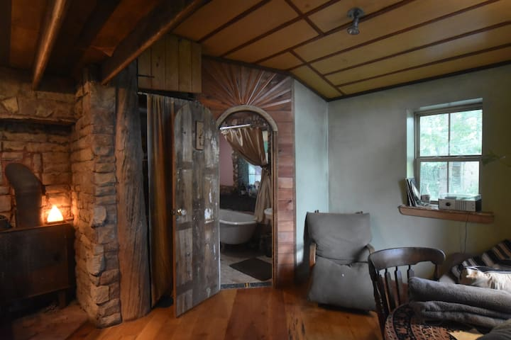 Beautiful Cabin interior in a tucked away woods