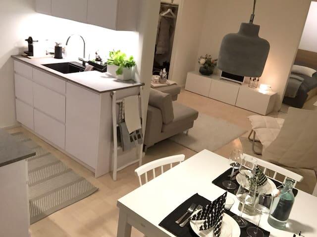Scandinavian style two-room flat w/ great location