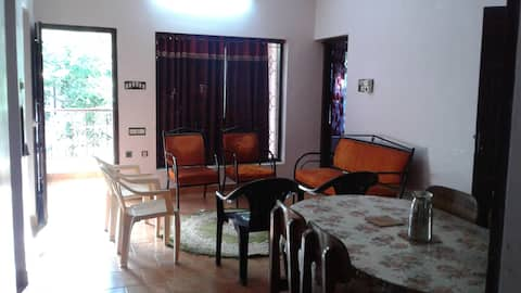 Home away from home: 4 BHK, non-AC villa.