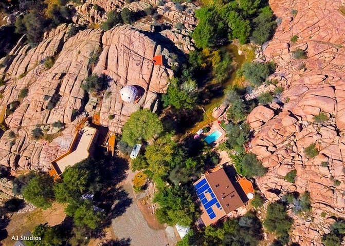 Another aerial view of Heaven on Earth Retreat & Sanctuary
